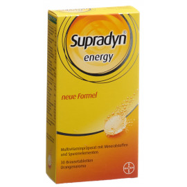 Supradyn energy effervescents orange 30 pce