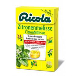 Ricola citron mélisse bonbons aux herbes sans sucre box 50 g