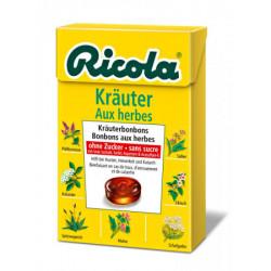 Ricola aux herbes bonbons aux herbes sans sucre box 50 g