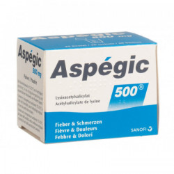 Aspégic pdr 500 mg sach 20 pce