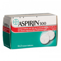 Aspirine cpr instant 500 mg...