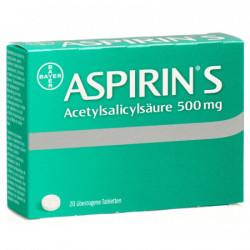 Aspirine S cpr 500 mg 20 pce