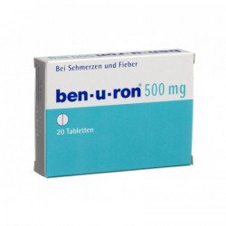 Ben-u-ron cpr 500 mg 20 pce