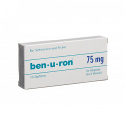 Ben-u-ron supp 75 mg bébé...
