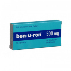 Ben-u-ron supp 500 mg enf 10 pce
