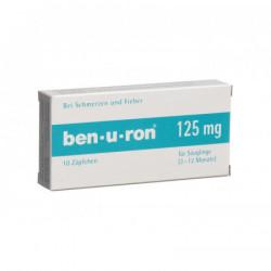 Ben-u-ron supp 125 mg bébé 10 pce