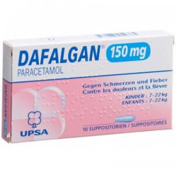 Dafalgan supp 150 mg 10 pce