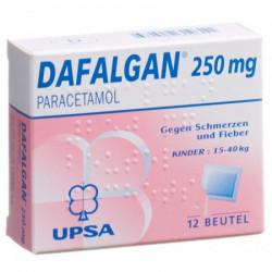 Dafalgan pdr 250 mg enf...
