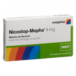 Nicostop-Mepha gomme 4 mg mint 24 pce