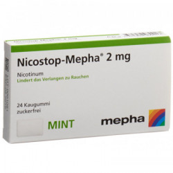 Nicostop-Mepha gomme 2 mg mint 24 pce