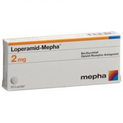 Lopéramide-Mepha Lactab 2 mg 20 pce
