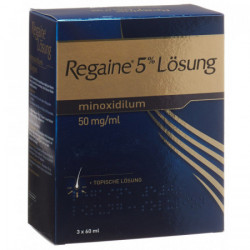 Regaine solution topique 5 % 3 x 60 ml