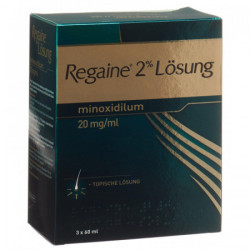Regaine solution topique 2 % 3 x 60 ml