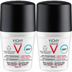 Vichy Homme Deo Anti-Traces roll on  2x50ml