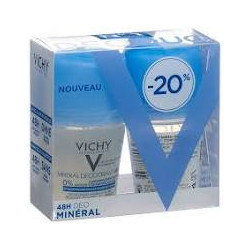 Vichy déo minéral 48h roll-on duo 2x50ml