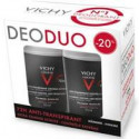 Vichy homme déo peau sensible 48h duo 2x50ml roll-on